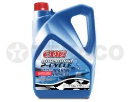 Масло моторное для 2-х тактных ДВС CAM2 Blue Blood Marine 2-Cycle Oil  TC-W3 (3,784л)
