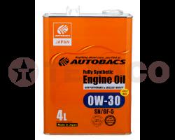 Масло моторное AUTOBACS ENGINE OIL FS 0W-30 SN/GF-5 (4л)