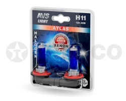 Автолампа AVS ATLAS H11 12V 55W 5000K (2шт) A78565S