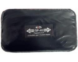 Пластырь резинокордный для радиальных шин БХЗ (115х200мм) 3 слоя