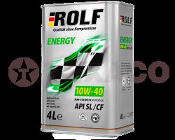 Масло моторное ROLF Energy 10W-40 SL/CF (4л) п/синт