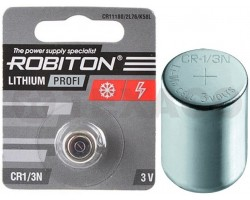 Батарейка ROBITON CR1/3N (CR11180/2L76/K58L)