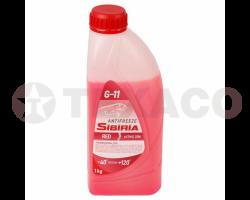 Антифриз Sibiria -40 G-11 красный (1кг)