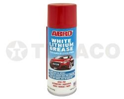 Смазка литиевая-белая ABRO аэрозоль (284г) LG-380