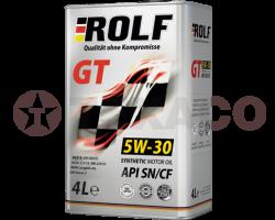 Масло моторное ROLF GT 5W-30 SN/CF (4л) синт