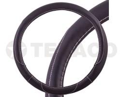 Оплетка на руль SKYWAY Art-4 L черная экокожа S01102315