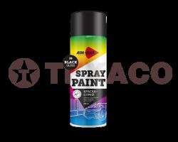 Краска-спрей AIM-ONE черная глянцевая (450мл)