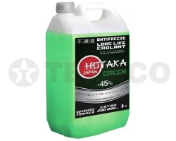 Антифриз Hotaka Green Long Life Coolant -45C, (5кг)