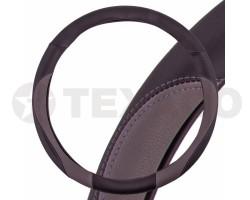 Оплетка на руль SKYWAY Combo-6 L черно-серая экокожа S01102295