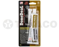 Герметик силиконовый термостойкий с медью DoneDeaL (85г)